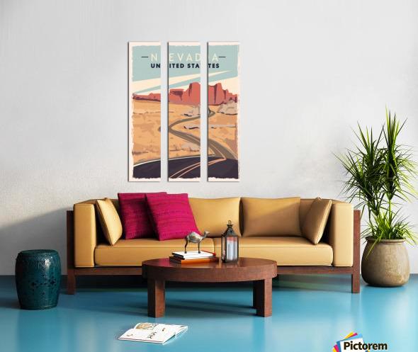 nevada retro poster usa nevada travel illustration united states america Split Canvas print