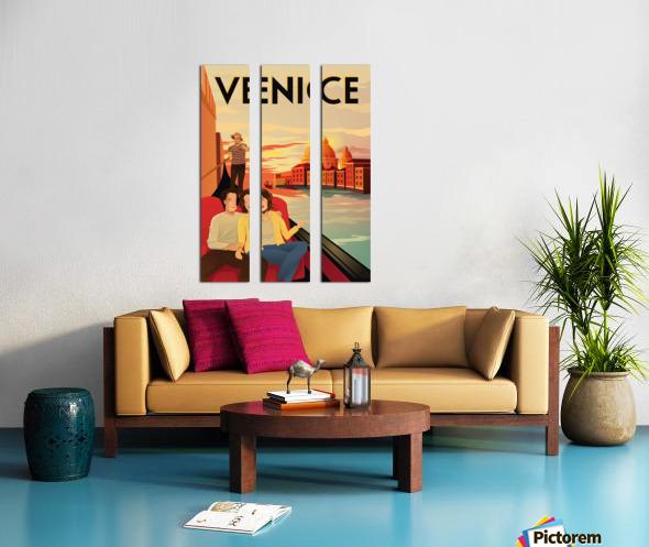 venice travel poster Split Canvas print