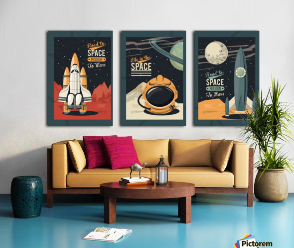 Life space poster with set scenes Split Canvas print