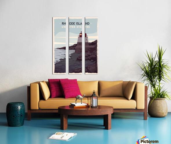 Rhode island retro poster usa rhode island travel illustration united states america Split Canvas print