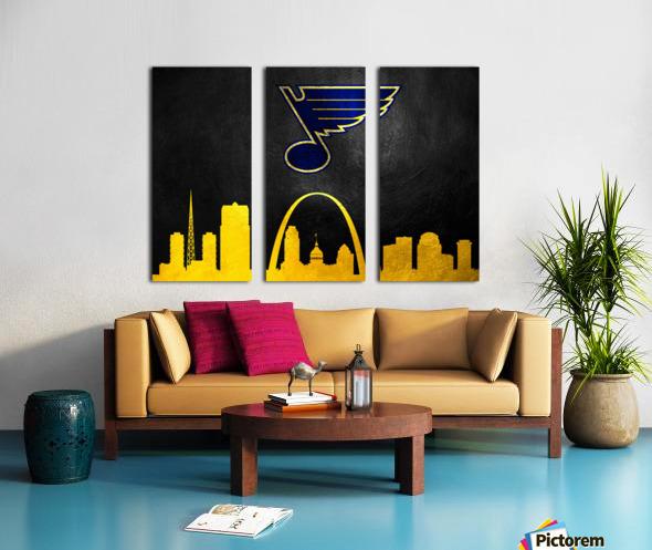 St Louis Blues Split Canvas print