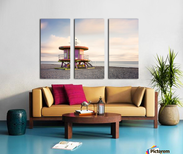 Miami Beach 028 Split Canvas print