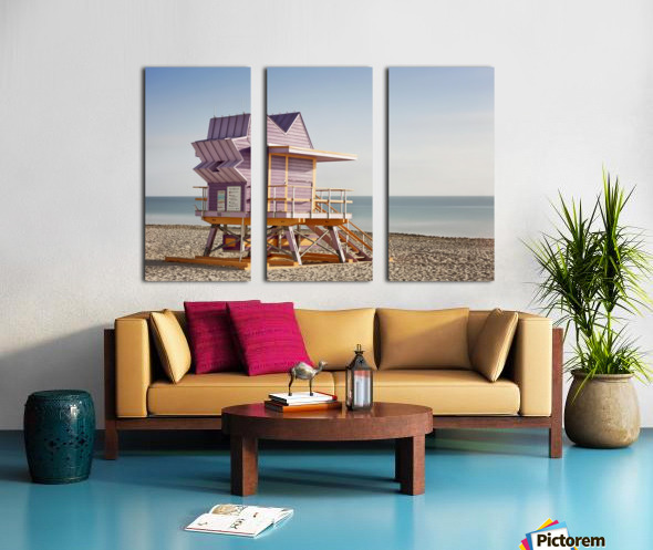 Miami Beach 056 Split Canvas print