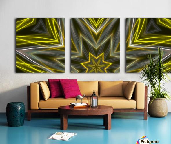 Yellow Neon Lights  Split Canvas print