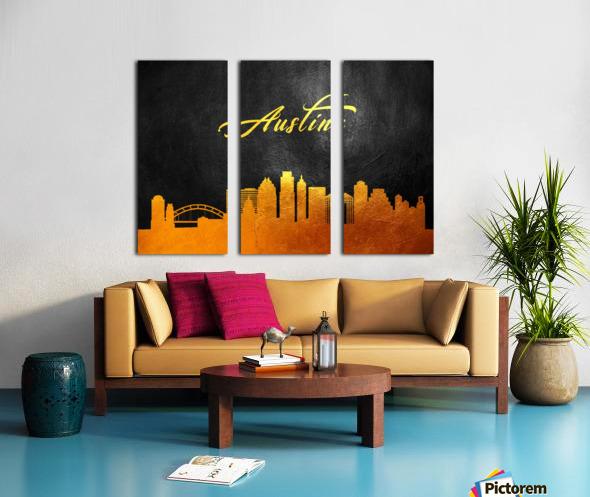 Austin Texas Skyline Wall Art Split Canvas print