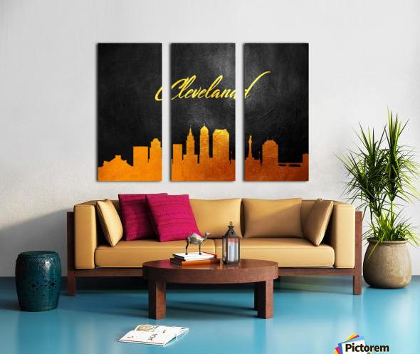 Cleveland Ohio Skyline Wall Art Split Canvas print