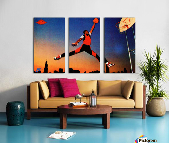 1985 Nike Promo Jordan Rookie Card Wall Art Split Canvas print