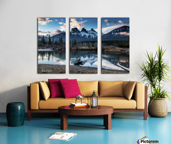 Three Sisters Canmore  Split Canvas print