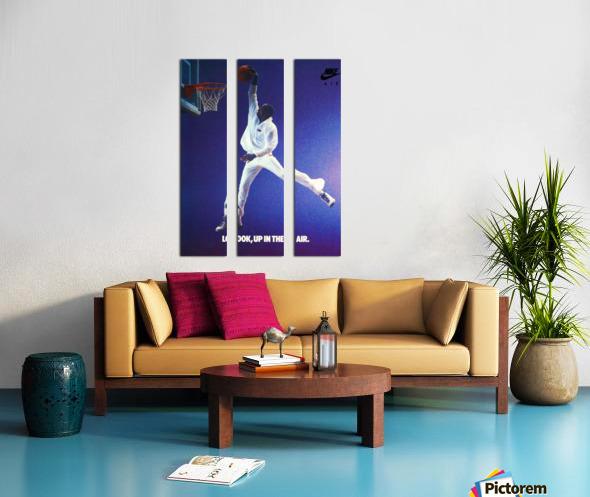 1987 Michael Jordan Nike Ad Split Canvas print
