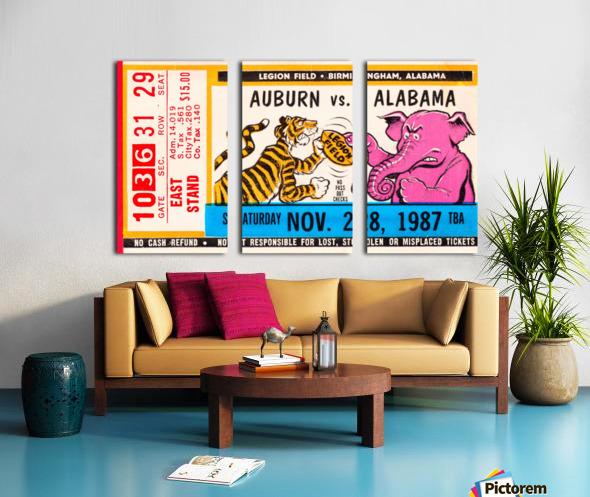 1987 Alabama vs. Auburn  Split Canvas print