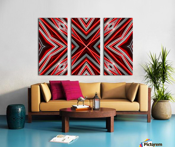 Red and Black Split Canvas print