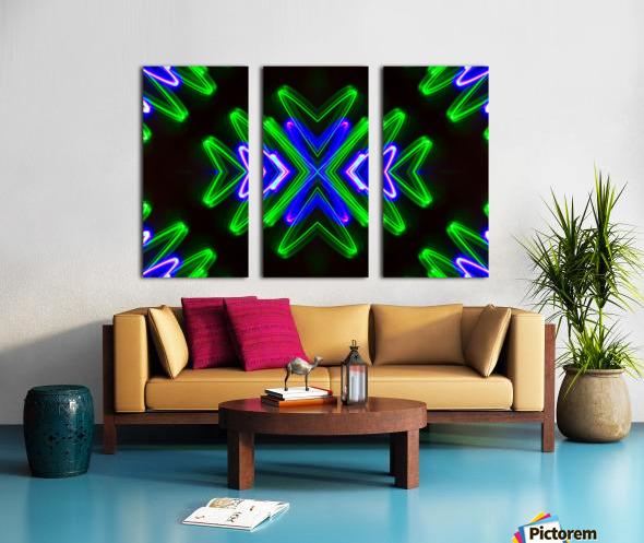 Neon Lights  Split Canvas print