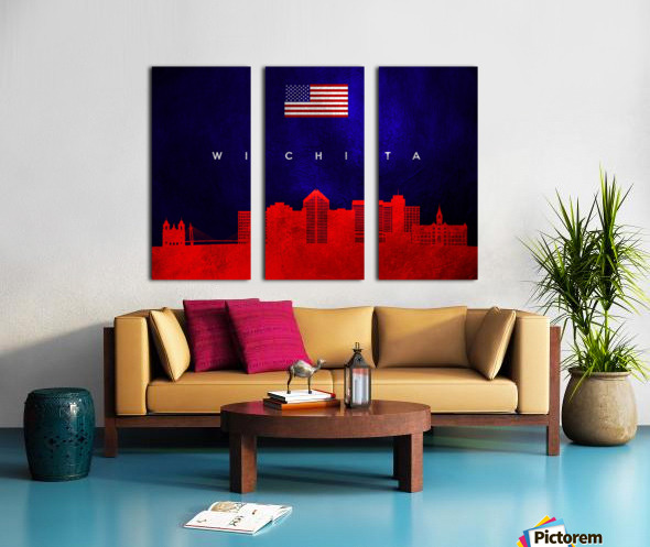 Wichita Kansas Split Canvas print