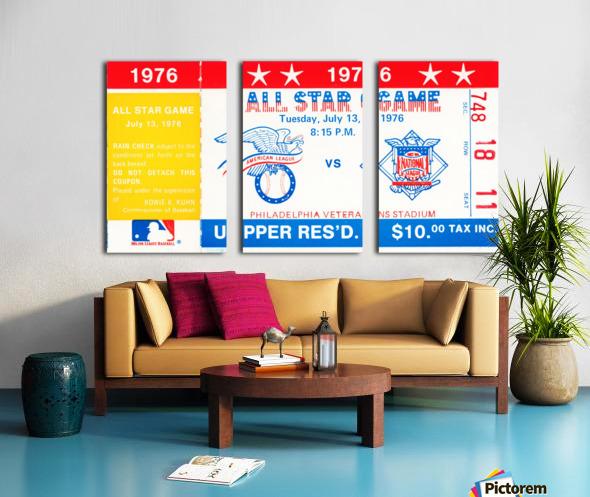 1976 All Star Game Split Canvas print