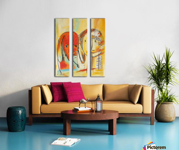 From the series of: Birds and Beasts Split Canvas print
