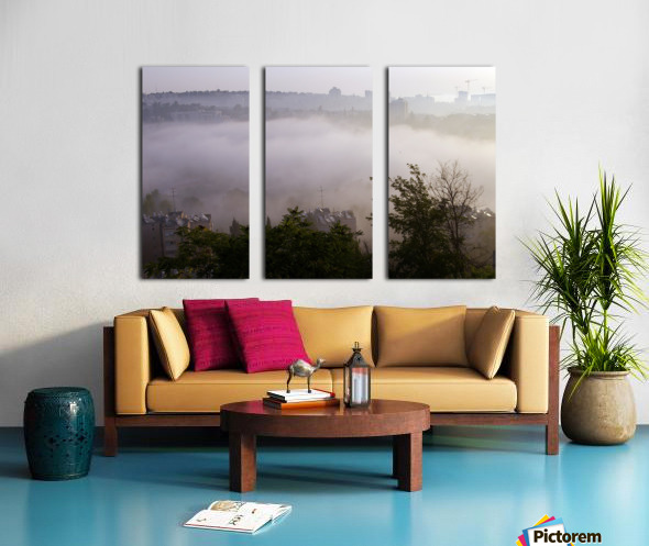Foggy morning Split Canvas print