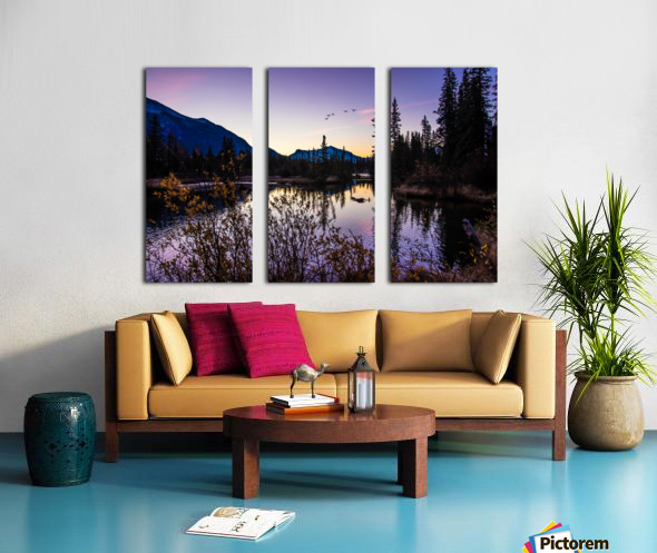 As Ducks Fly Policemans Creek Canmore Split Canvas print