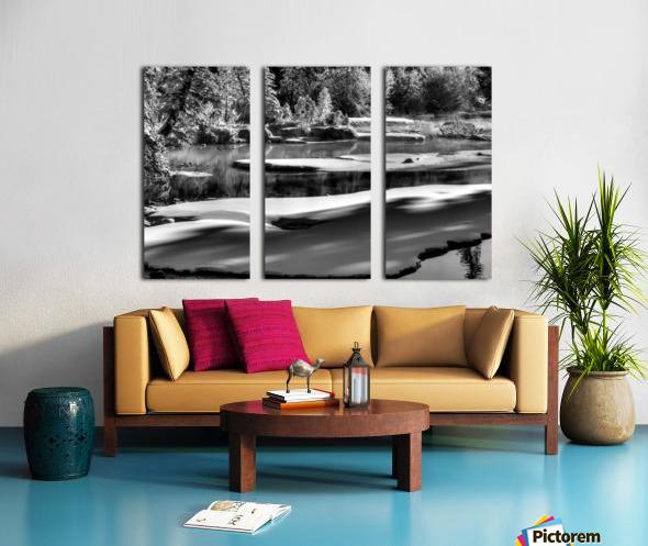 Frosty Creek In Alberta  Split Canvas print