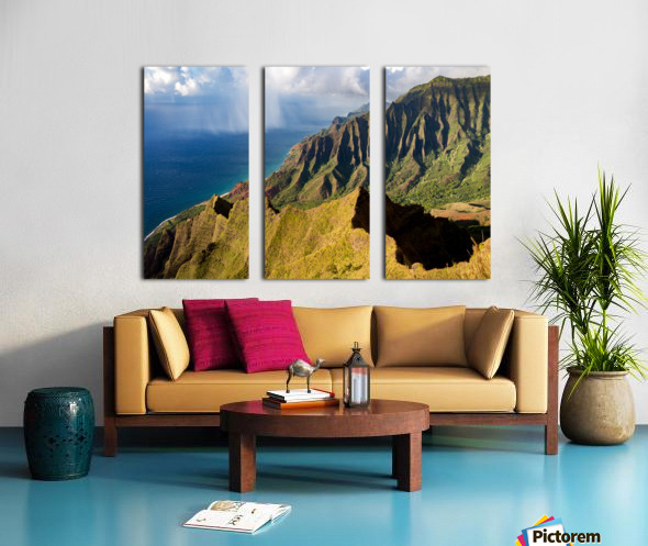 The Cliff Sides of Kauai Split Canvas print