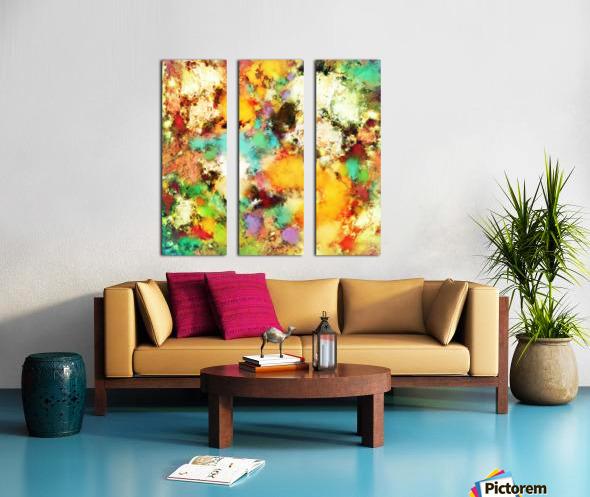 A distorted impact Split Canvas print
