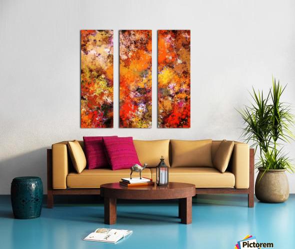 A jumping orange horse Split Canvas print
