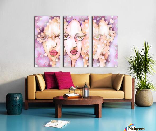 Face  Split Canvas print