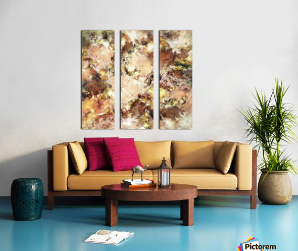 Abraded surface Split Canvas print