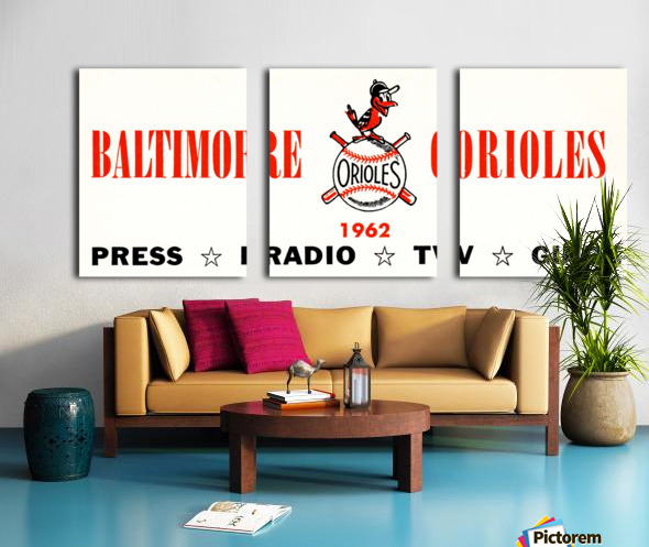 baltimore orioles press guide row one Split Canvas print
