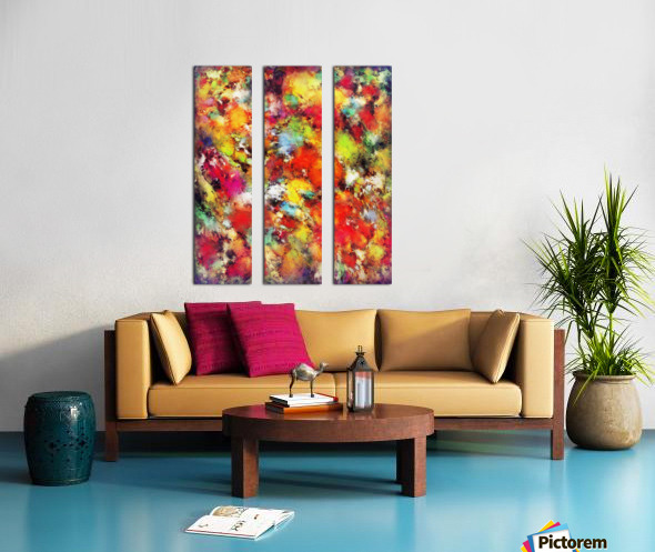 Big colour storm Split Canvas print