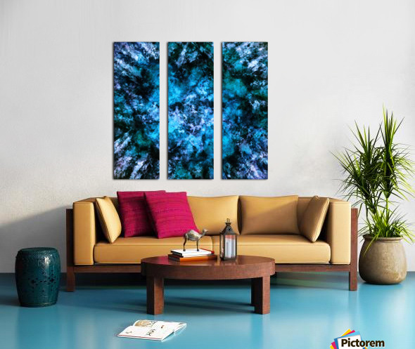 Blue burst Split Canvas print