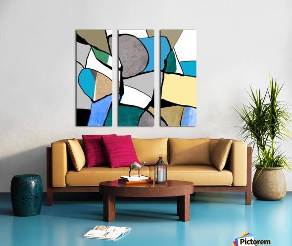 Meeting of Colors Split Canvas print