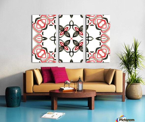 Abstract art Split Canvas print