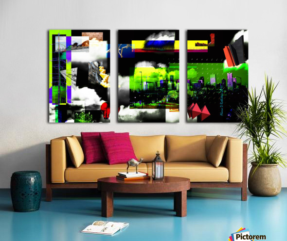 URBAN DENVER 2011 Split Canvas print