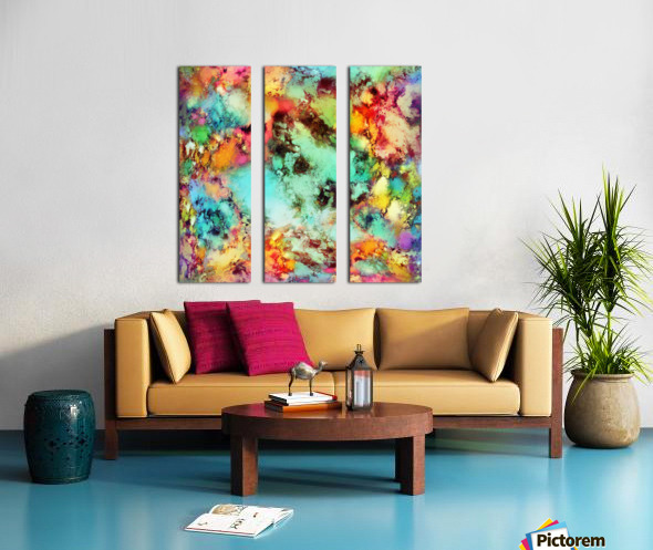 Crunch Split Canvas print