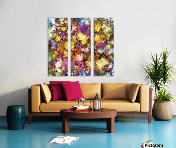 Dismantling the flowers Split Canvas print