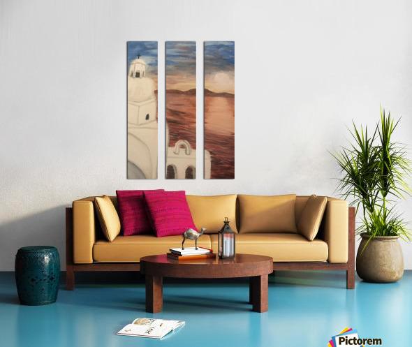 A Greek Island Split Canvas print