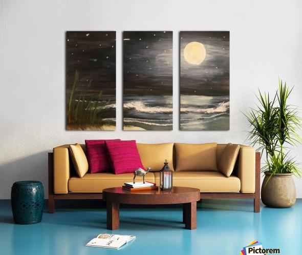 Moonlit Seascape Split Canvas print