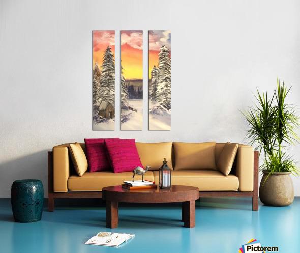 Snow At Sunset Split Canvas print
