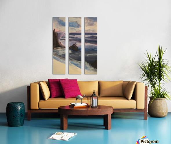 Watercolor Beachscape Split Canvas print