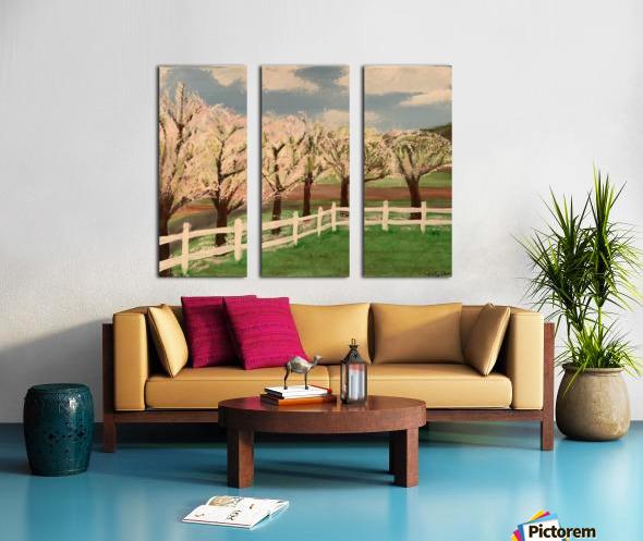 Trees In Bloom Split Canvas print