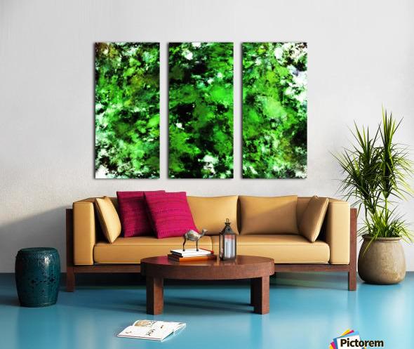Green deflected Split Canvas print