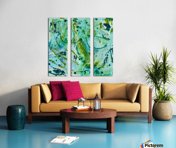 Seaweed Confetti Split Canvas print