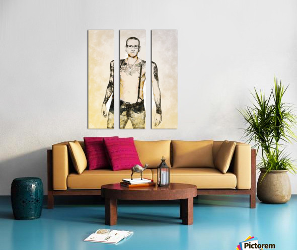 Chester Bennington Split Canvas print
