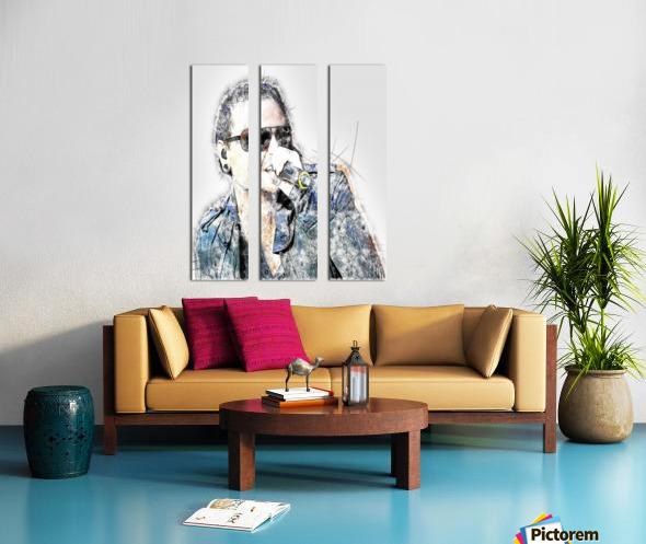 Chester Bennington Linkin Park Split Canvas print