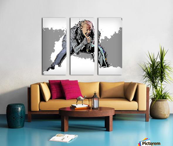 Chester Charles Bennington Split Canvas print