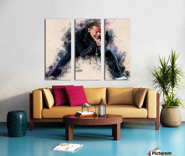 Chester Charles Bennington Split Canvas print