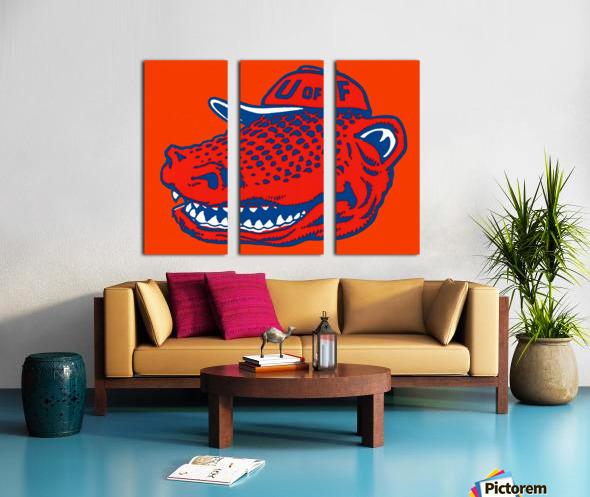 Vintage Florida Gators Wall Art Split Canvas print