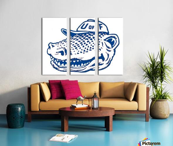 vintage florida gators wall art blue Split Canvas print