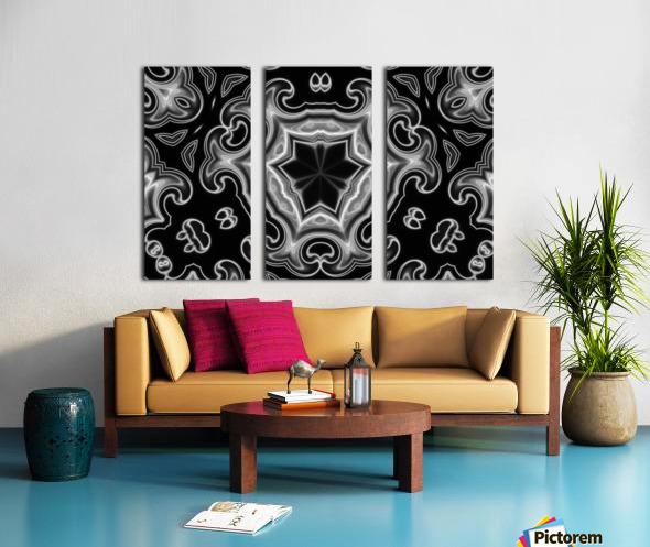 Abstract digital Art Split Canvas print