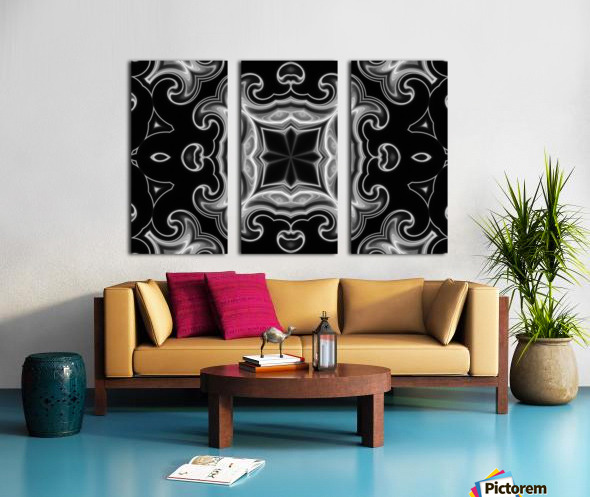Abstract Fractal Split Canvas print
